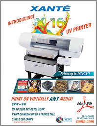 X-16 and X-33 inkjet printers for objects or irregular surfaces